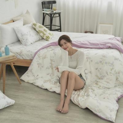 BUHO 台製300織100%TENCEL純天絲床包枕套三件組-雙人加大(淡香入夢)