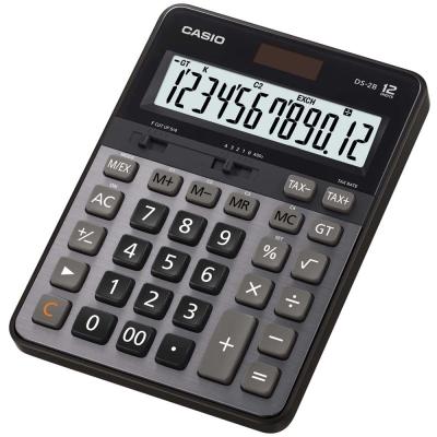 CASIO卡西歐12位元大螢幕顯示商用桌紹型計算機- DS-2B(黑灰)