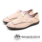 WALKING ZONE(男)素面時尚棒球車線踩腳鞋-米(另有咖/藍)