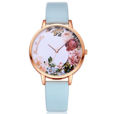 Watch-123 四季花園玫瑰綻放彩繪風手錶 (3色任選)