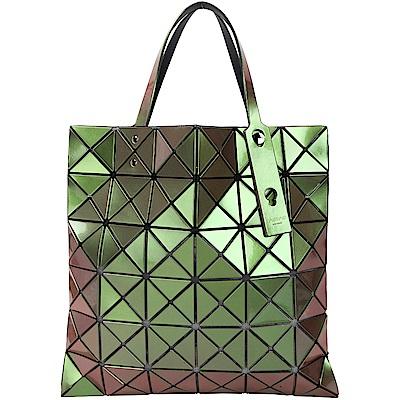 ISSEY MIYAKE 三宅一生 BAOBAO 6x6 霓光變色幾何手提包(金屬綠)