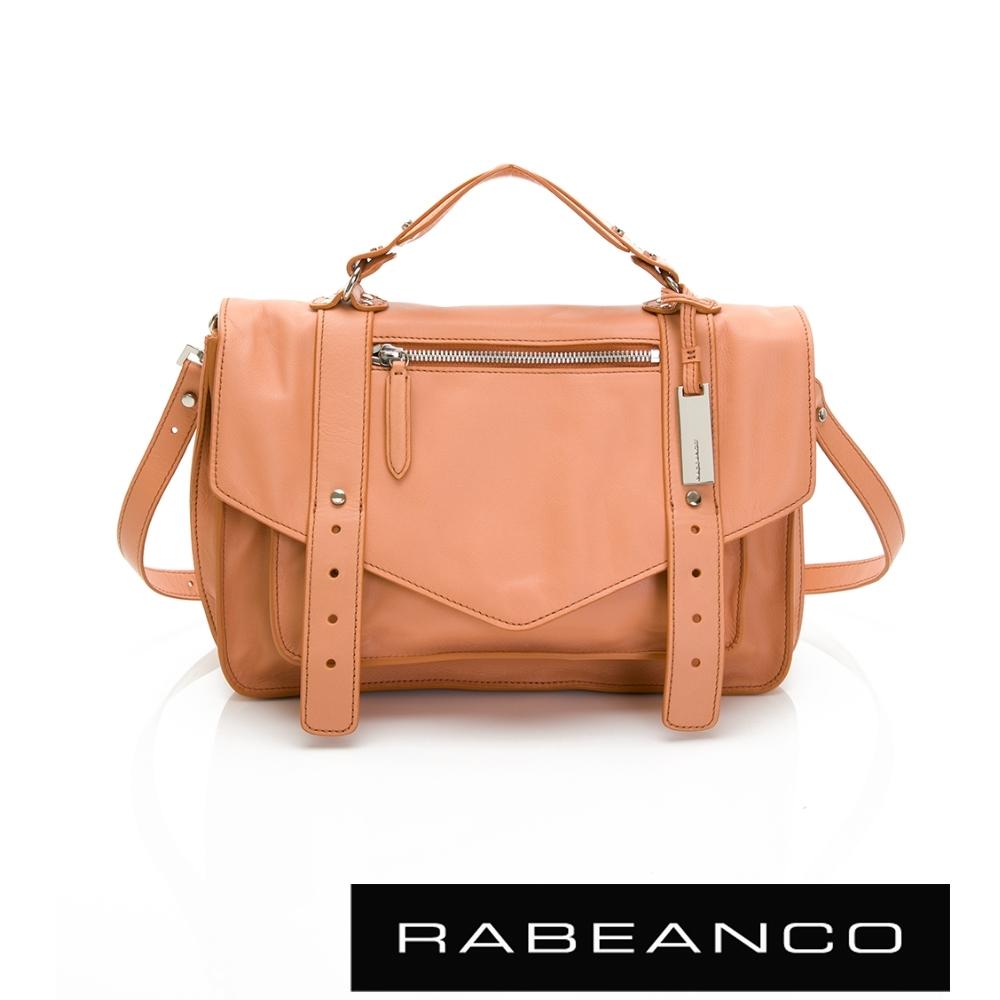 RABEANCO Modern現代美學系列雙飾帶包(小) 橘粉