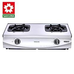 櫻花牌 G5900S 雙炫火珍珠壓紋傳統式二口瓦斯爐(不含安裝)