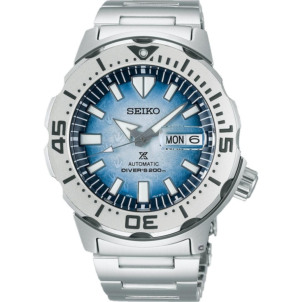 SEIKO Prospex 愛海洋 南極企鵝 200米潛水機械錶(SRPG57K1/4R36-11C0H)-42.4mm