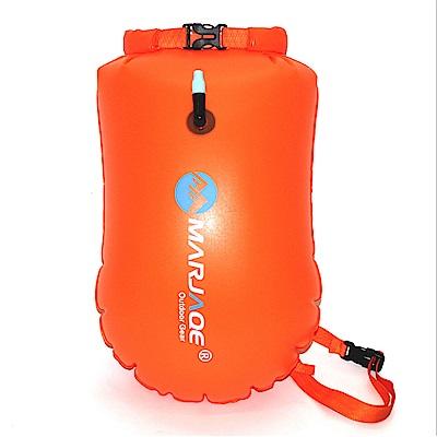 PUSH!戶外用品可充氣漂流袋游泳防水桶包20L P132