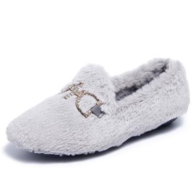 韓國KW美鞋館-優雅愜意舒適豆豆鞋-灰色