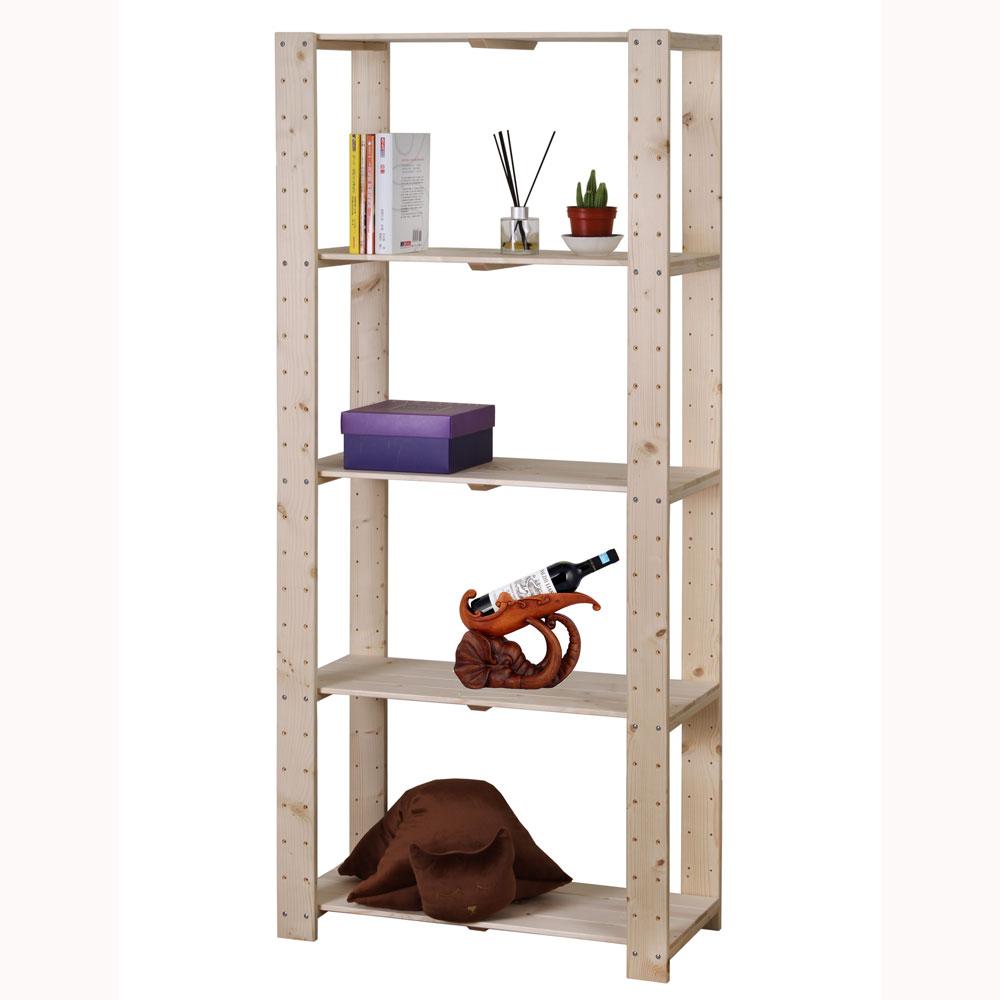 雲杉五層實木展示架/置物架 層架 收納架 書架