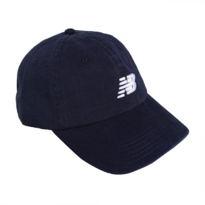 New Balance 棒球帽 Logo Baseball Cap 男女款 紐巴倫 基本 老帽 穿搭 帽圍可調 深藍 白 LAH91014NGO