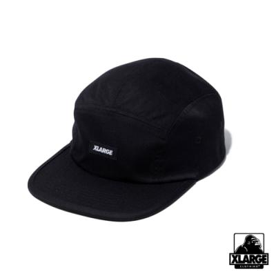 XLARGE PATCHED CAMP CAP 五分割帽-黑