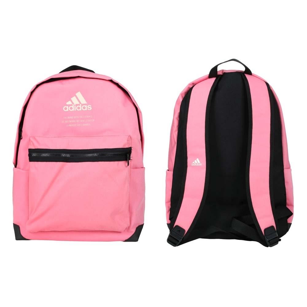 ADIDAS 後背包-愛迪達 雙肩包 肩背包 旅行包 27.5L GL0892 粉紅黑