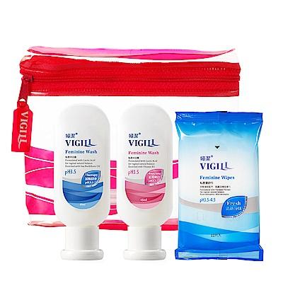 VIGILL 婦潔 私密清潔旅行 3 件組(生理 45 ml+嫩白 45 ml+舒巾 12 入 1 包)