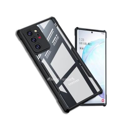 XUNDD 軍事防摔 三星 Samsung Galaxy Note20 Ultra 5G 清透保護殼 手機殼(夜幕黑)