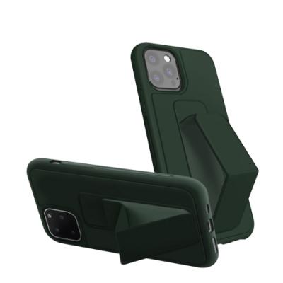 iPhone12保護套 強力磁吸 純色 立架 支架 手機殼 iPhone 12 手機殼-松針綠*1