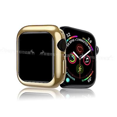XUNDD 訊迪 Apple Watch 4 (44mm) 全包金屬色防摔軟殼 (銀河金)
