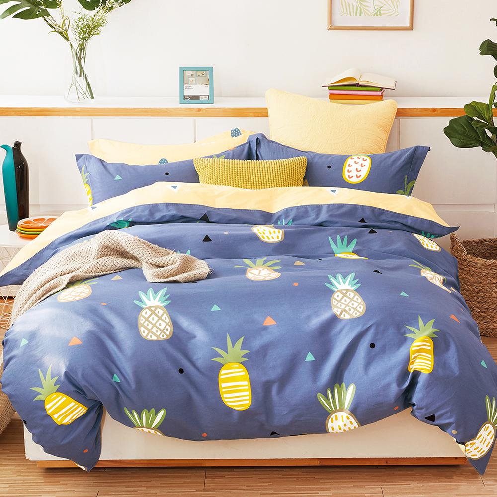 Ania Casa水木清華 單人兩件式 100%精梳棉 台灣製 床包枕套純棉兩件組