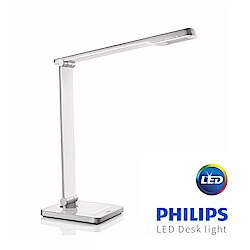 【飛利浦 PHILIPS LIGHTING】晶皓LED檯燈-白 6W (71666)