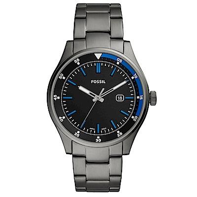FOSSIL Belmar 簡約時尚手錶(FS5532)-灰X藍/44mm