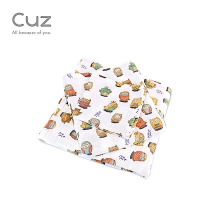 【Cuz】貓頭鷹打個盹(紗布巾)115cm