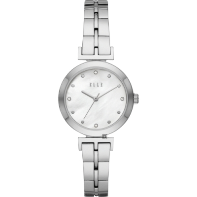 ELLE ODEON 系列優雅小錶徑女錶-珍珠貝x銀/30mm ELL21009