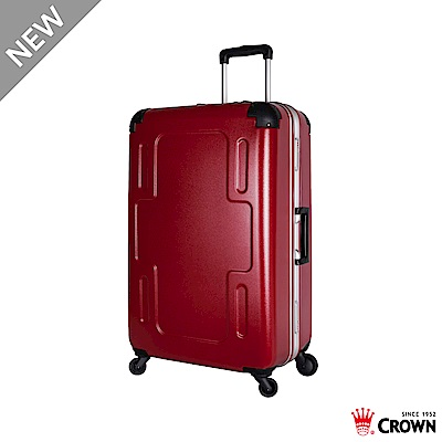 CROWN 皇冠  29吋鋁框相 皇室紅 旅行箱行李箱 十字造型拉桿箱
