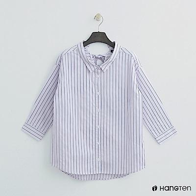 Hang Ten - 女裝 - 後綁結直條襯衫 - 粉