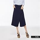 新降【KiKi】典雅開叉設計-裙褲(藍色)