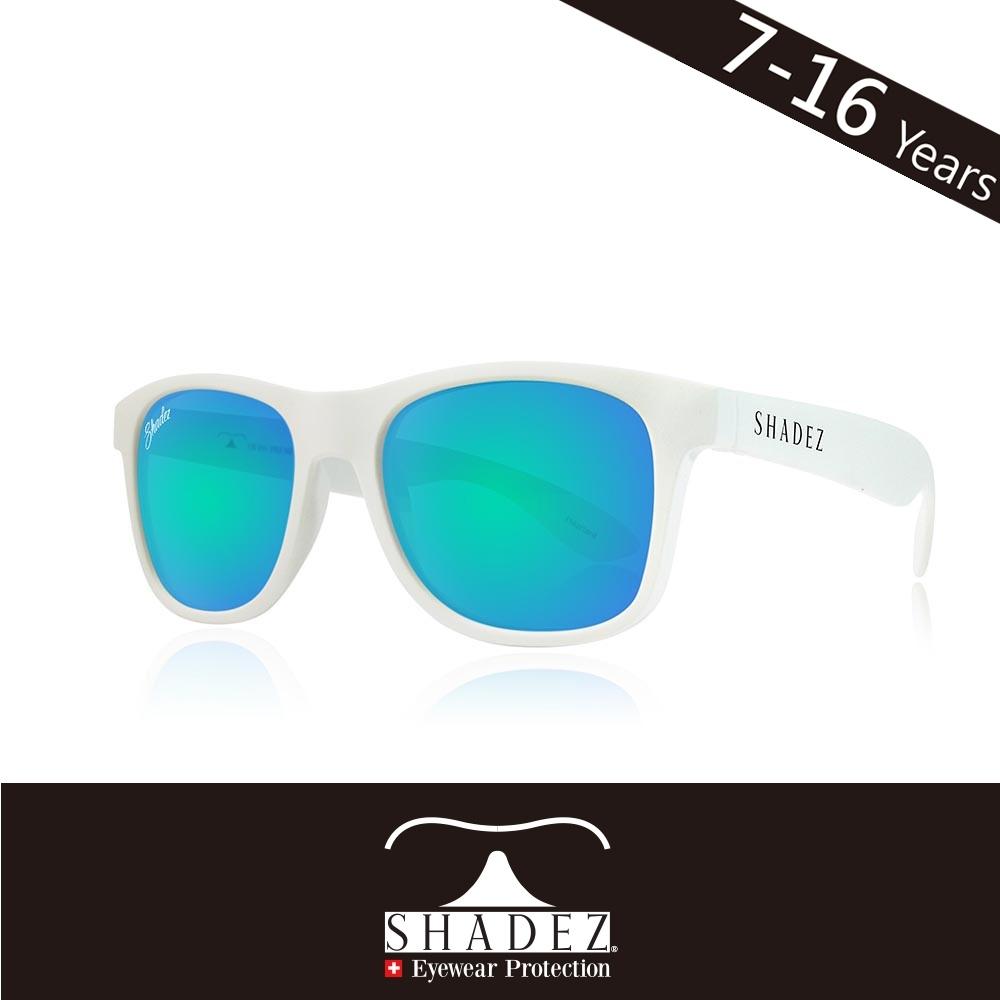 瑞士 SHADEZ 兒童太陽眼鏡 【偏光-白框天空藍 SHZ-409】7 - 16歲
