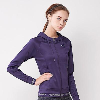 【KENBOO】女款慢跑針織外套-紫