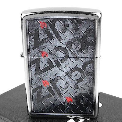 ZIPPO 美系~Diamond Plate-花板Logo圖案設計打火機