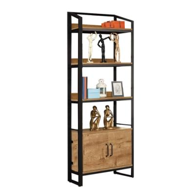 文創集 伊妮 現代2.7尺二門書櫃/收納櫃(二色系可選)-80x30x192cm免組
