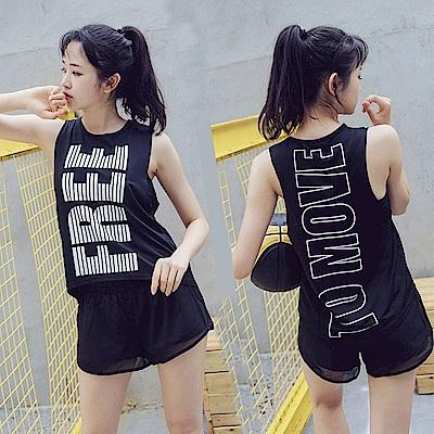 Biki比基尼妮泳衣   音浪運動三件式泳裝泳衣(M-XL)