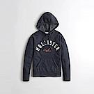 HCO Hollister 海鷗 經典刺繡大海鷗文字連帽T恤(女)-深藍色