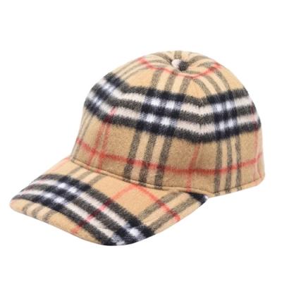 BURBERRY 經典Vintage格紋羊毛棒球帽(古典黃)