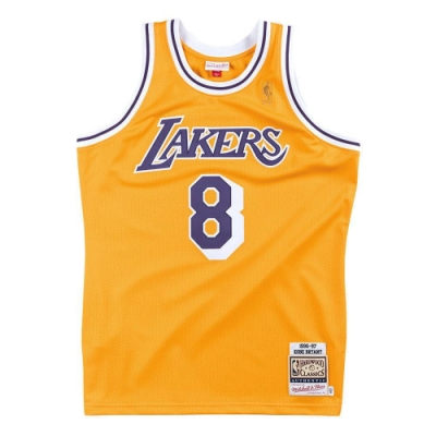 M&N Authentic球員版復古球衣 湖人隊 96-97 #8 Kobe Bryant