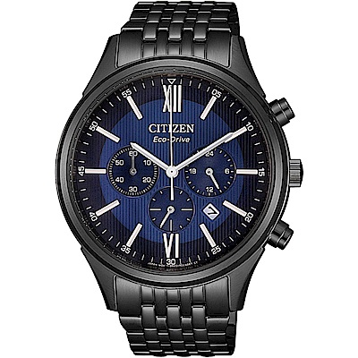 CITIZEN星辰沈穩時尚光動能腕錶(CA4415-81L)-藍