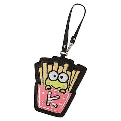 Sanrio 大眼蛙黑板塗鴉系列薯條造型帆布車票套附掛帶