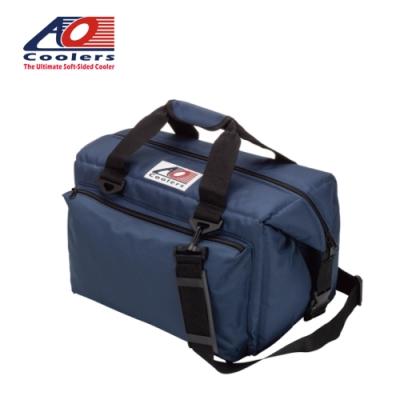 【AO Coolers】酷冷軟式輕量保冷托特包-豪華24罐型 -經典帆布CANVAS系列 海軍藍