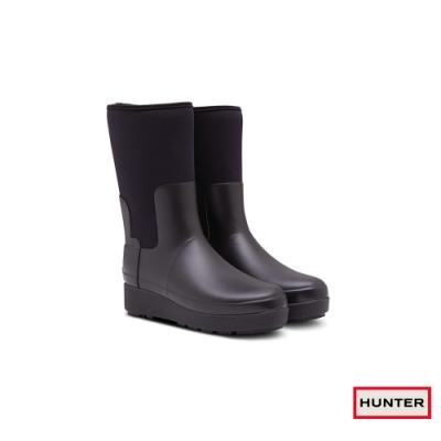HUNTER - 女鞋 - Refined Creeper平底短靴 - 黑