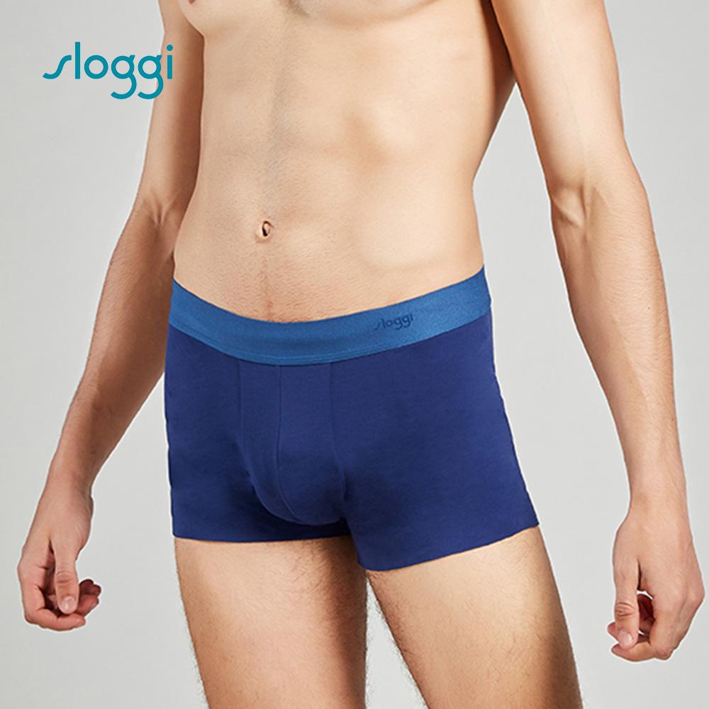sloggi men ZERO Feel 零感系列男士平口褲 紳士藍 90-443 B9