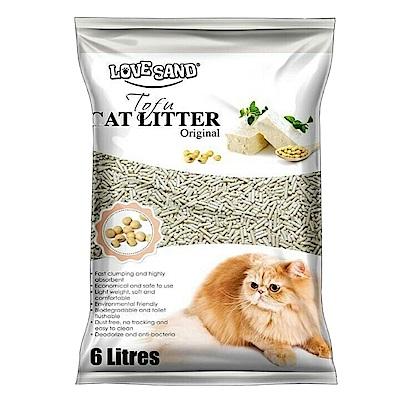 艾莎 凝結豆腐環保貓砂 6L 三包組