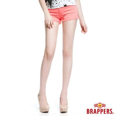 BRAPPERS 女款 Boy Friend Jeans系列-彈性熱褲-粉