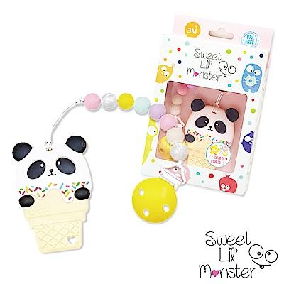 【Sweet Lil Monster】熊貓冰淇淋固齒器/奶嘴鍊