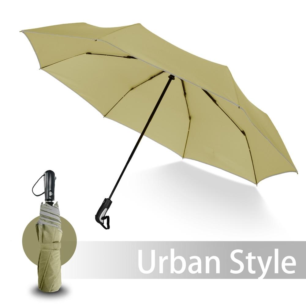 2mm 都會行旅 超大傘面抗風自動開收傘 (卡其)