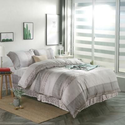 夢工場浪漫花絮40支紗萊賽爾天絲四件式鋪錦床罩組-特大