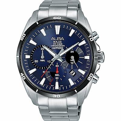 ALBA 雅柏 Solar 太陽能機芯限定款計時手錶(AZ5005X1)-44mm