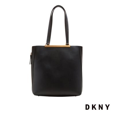DKNY 女 肩背包 簡約 質感牛皮 黑