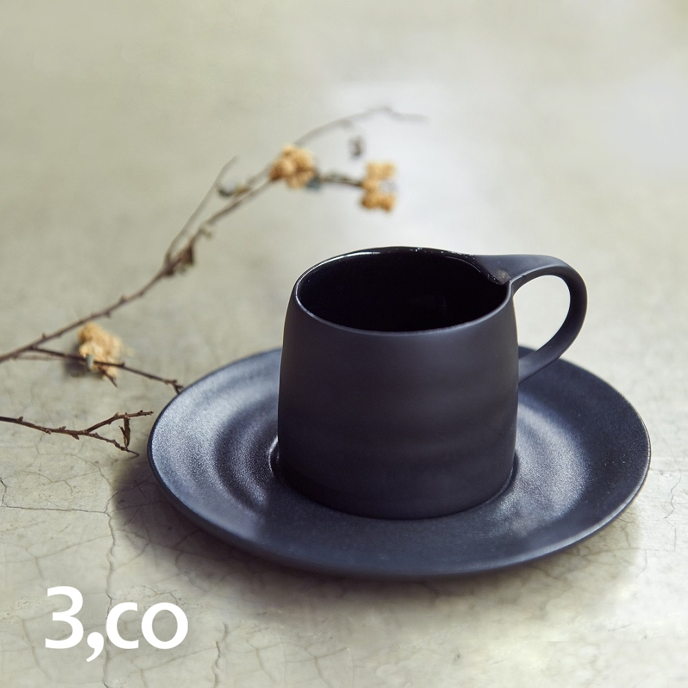 3,co 卡布奇諾杯碟組(2件式) - 黑 product image 1