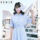 SEMIR森馬-清新少女小排扣波浪感洋裝-女