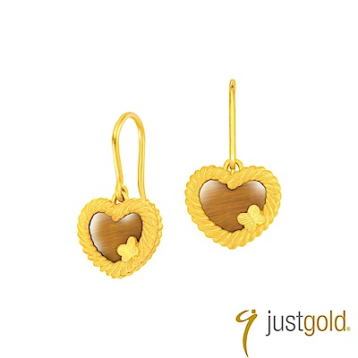 鎮金店Just Gold 編愛Lingering Love純金系列 黃金耳環