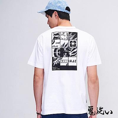 鬼洗 BLUE WAY 迷幻側鬼拼圖TEE(米白)